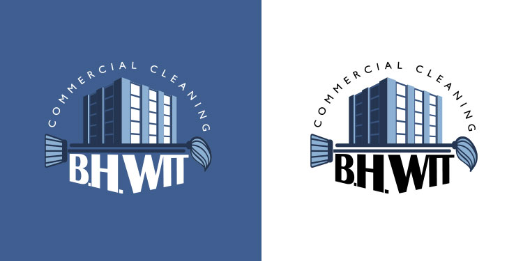 Logo for the San Francisco cleaning company, BH Wit.